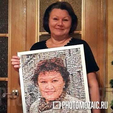 Фотомозаика в подарок женщине на 50 лет