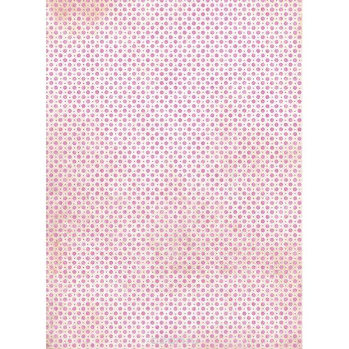 Рисовая бумага для декупажа Розовый горох, A3