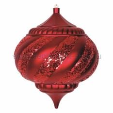 Елочная игрушка Лампа красного цвета