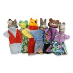Домашний кукольный театр «Теремок» с 6 персонажами
