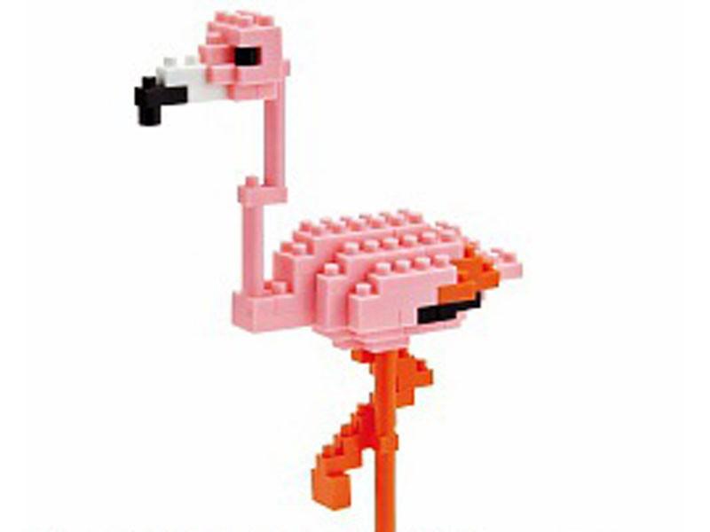 Головоломка Nanoblock Розовый фламинго