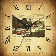 Настенные часы Сочи - Курортный проспект 1961