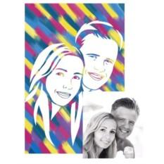 Живописный рисунок по фотографии молодоженов