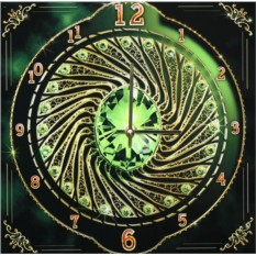 Часы с кристаллами Swarovski Изумруд