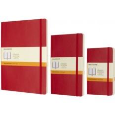 Красная записная книжка в линейку Moleskine Classic Soft