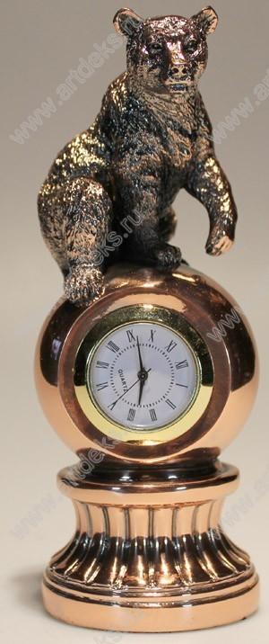 Настольные декоративные часы Медведь