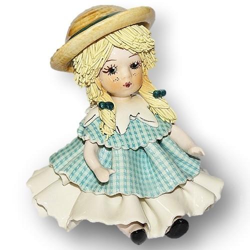 Фарфоровая статуэтка Девочка со светлыми волосами ZamPiva