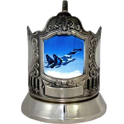 Подстаканник с гравировкой «Самолёт Сухого»