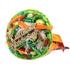 Оранжевый букет из конфет Классному руководителю