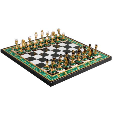 Шахматы Малахитовые