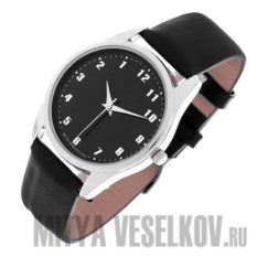Часы Mitya Veselkov Обратный циферблат (цвет: черный)