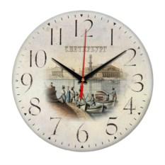 Круглые сувенирные часы Санкт-Петербург. Нева