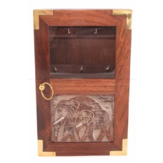 Деревянный ящик для ключей