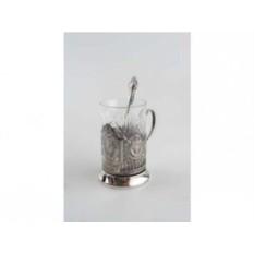 Набор из стакана с подстаканником и ложкой «Герб СССР»