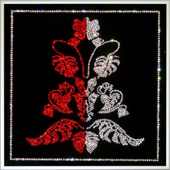 Картина с кристаллами Swarovski  Цветущий папоротник