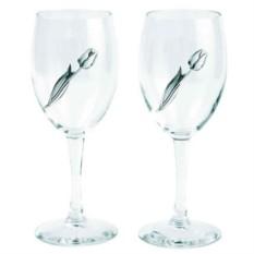 Набор из 2-х бокалов для вина с тюльпанами