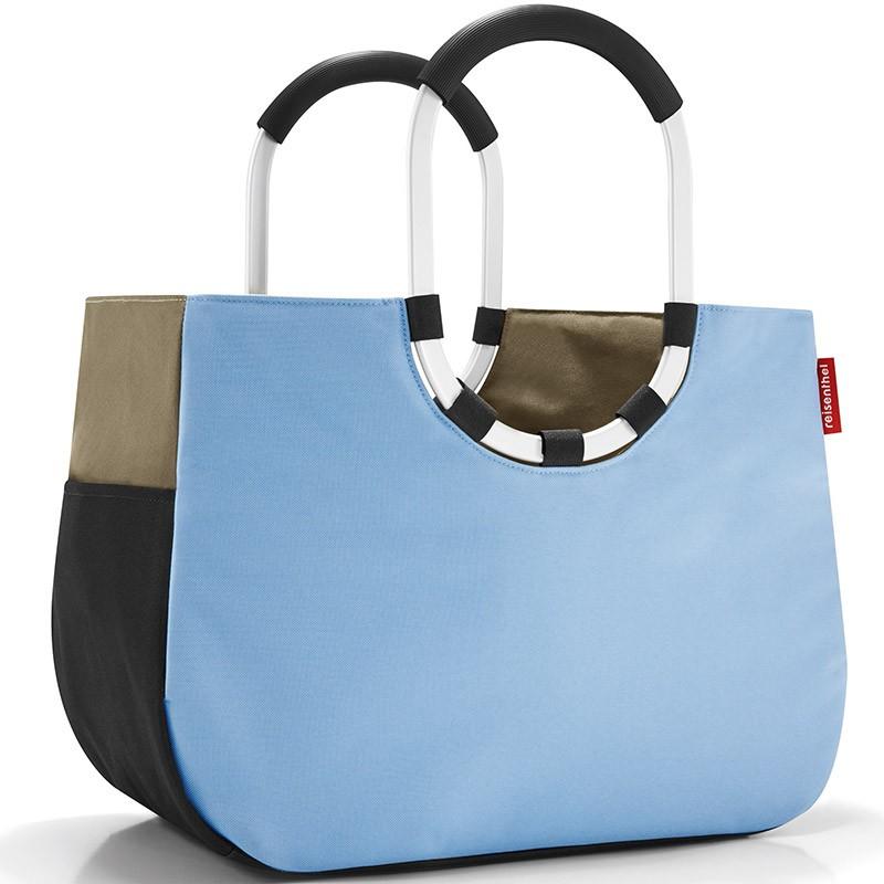 Сумка Loopshopper L patchwork pastel blue