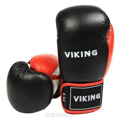 Боксерские перчатки Viking, 8 унций (2410-8), черные, белые