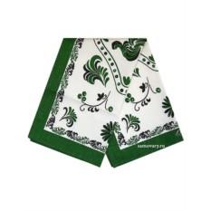 Зеленое полотенце Петух