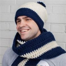 Комплект из шапки и шарфа Море