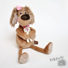 Мягкая игрушка Собачка Зиночка с Зайкой