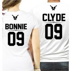 Парные футболки для влюбленных Бонни и Клайд