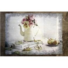 Столик для завтрака в постель Цветы на веранде