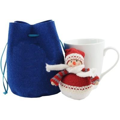 Новогодний набор: кружка и игрушка Снеговик
