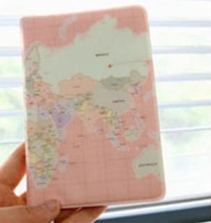 Обложка для паспорта World Map Cover Pink
