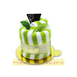 Торт-полотенце «Полосатое-киви»