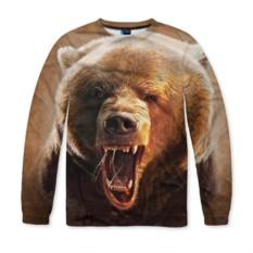 Мужской свитшот с полной запечаткой Медведь