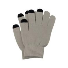 Серые перчатки для сенсорного экрана
