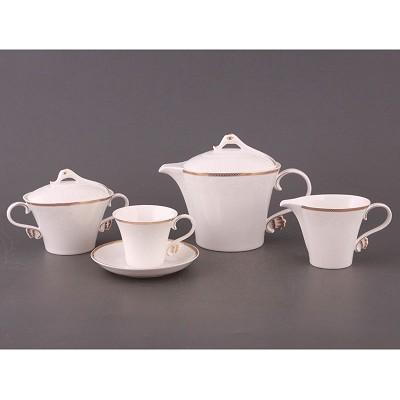 Чайный сервиз фарфоровый на 6 персон