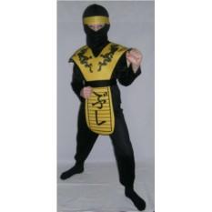 Детский карнавальный костюм Ниндзя-дракон желтый