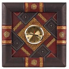 Часы из натуральной кожи (цвет - коричнево-бордовый)
