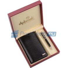 Мужской набор Diplomat: портмоне, ручка