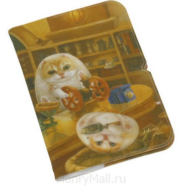 Кредитница с кошачьими мордашками «Кафе Генри»