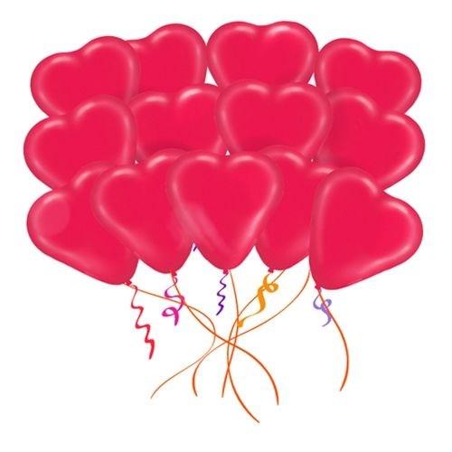 Облако из 50 латексных шаров Сердца