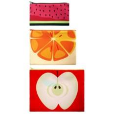 Набор косметичек LOQI Zip Pockets - Frutti