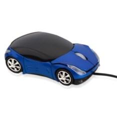Синяя оптическая мышь в форме автомобиля с подсветкой фар