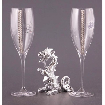 Подарочный набор бокалов «Пара с драконом»