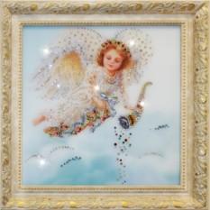 Картина с кристаллами Swarovski Ангел изобилия