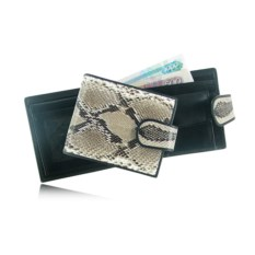 Мужской кошелек из кожи питона (цвет: натуральный)