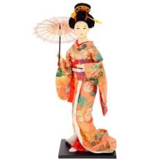 Кукла декоративная Гейша с зонтиком