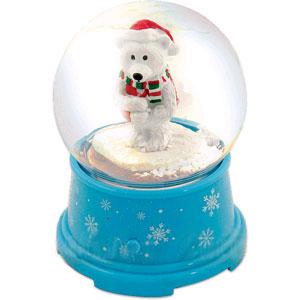Музыкальный снежный шар «Белый медведь»