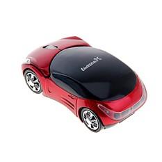 Беспроводная отпическая мышка Машина, красная