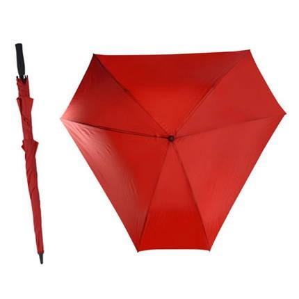 Красный механический зонт-трость Triangle
