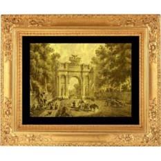 Гравюра из золота Нарвские ворота