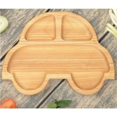Деревянная тарелка Машина