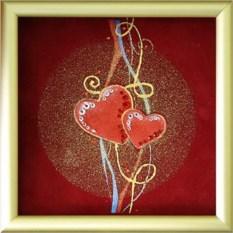 Картина с кристаллами Swarovski Валентинка